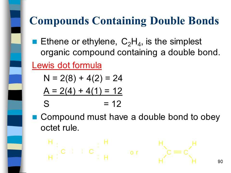 Compounds Containing Double Bonds