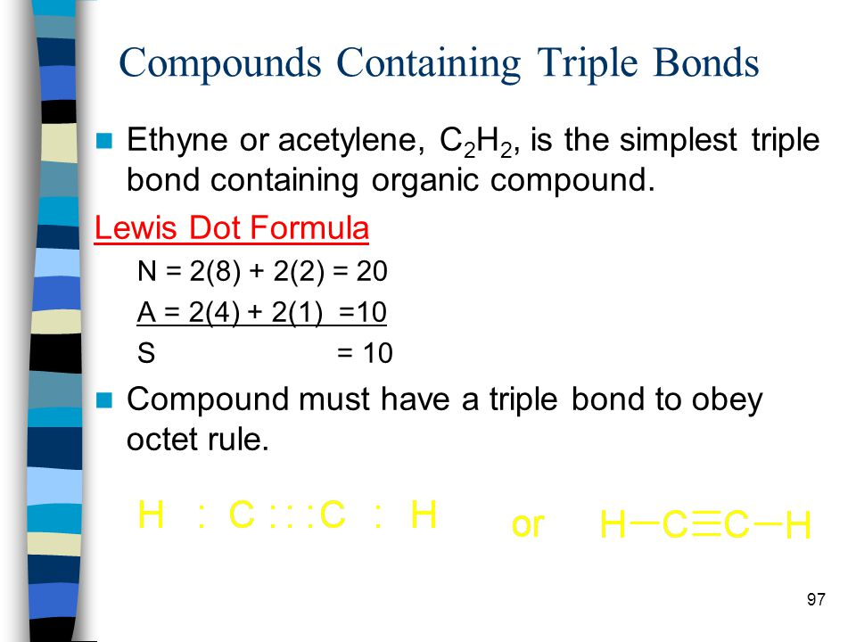 Compounds Containing Triple Bonds