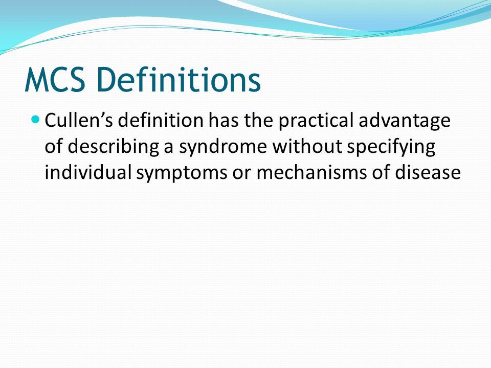 MCS Definitions