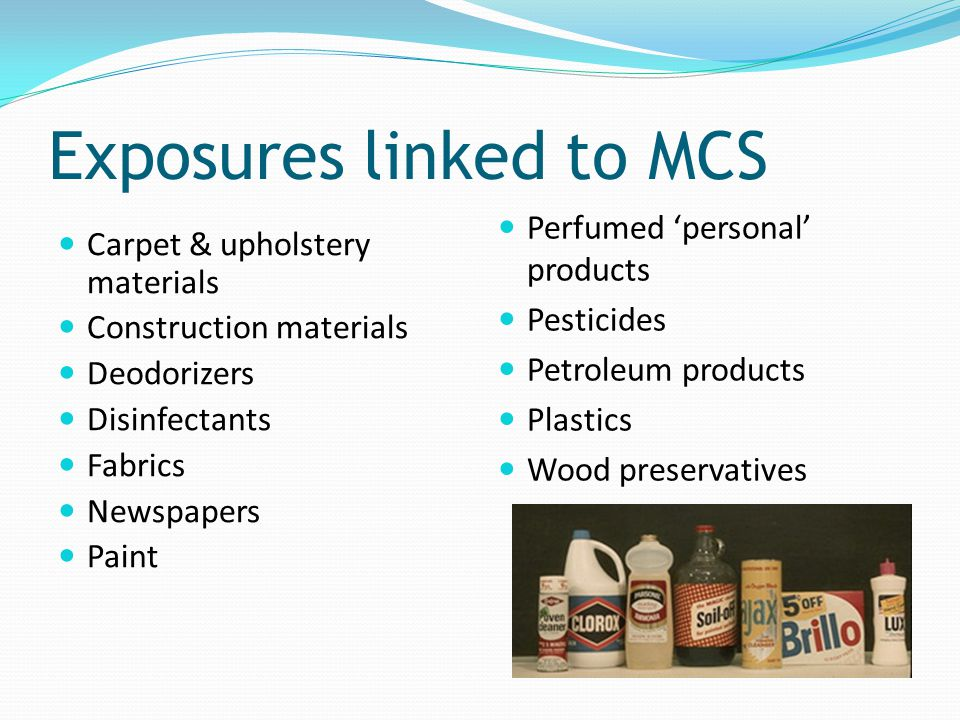 Exposures linked to MCS