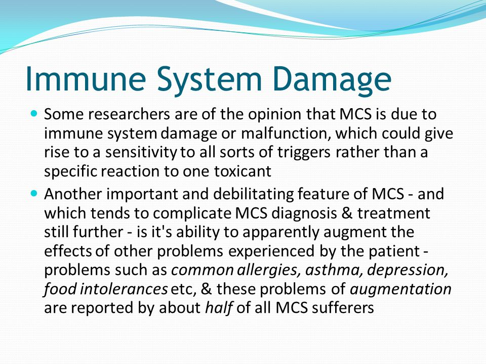 Immune System Damage