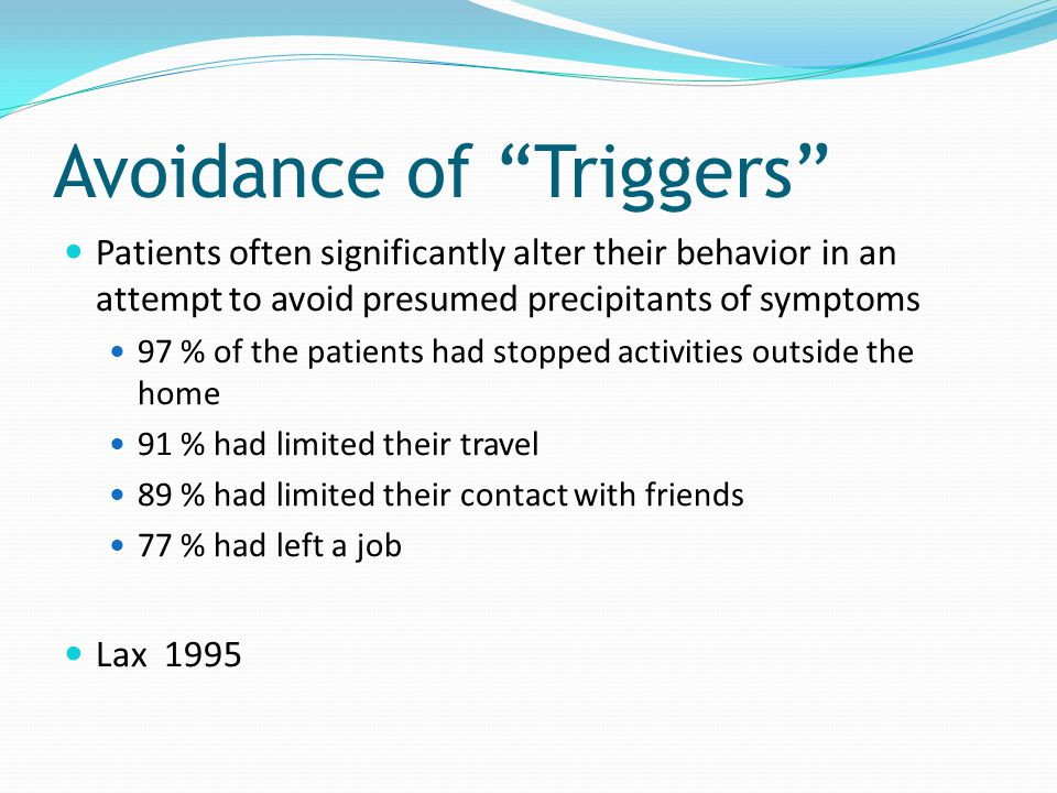 Avoidance of Triggers