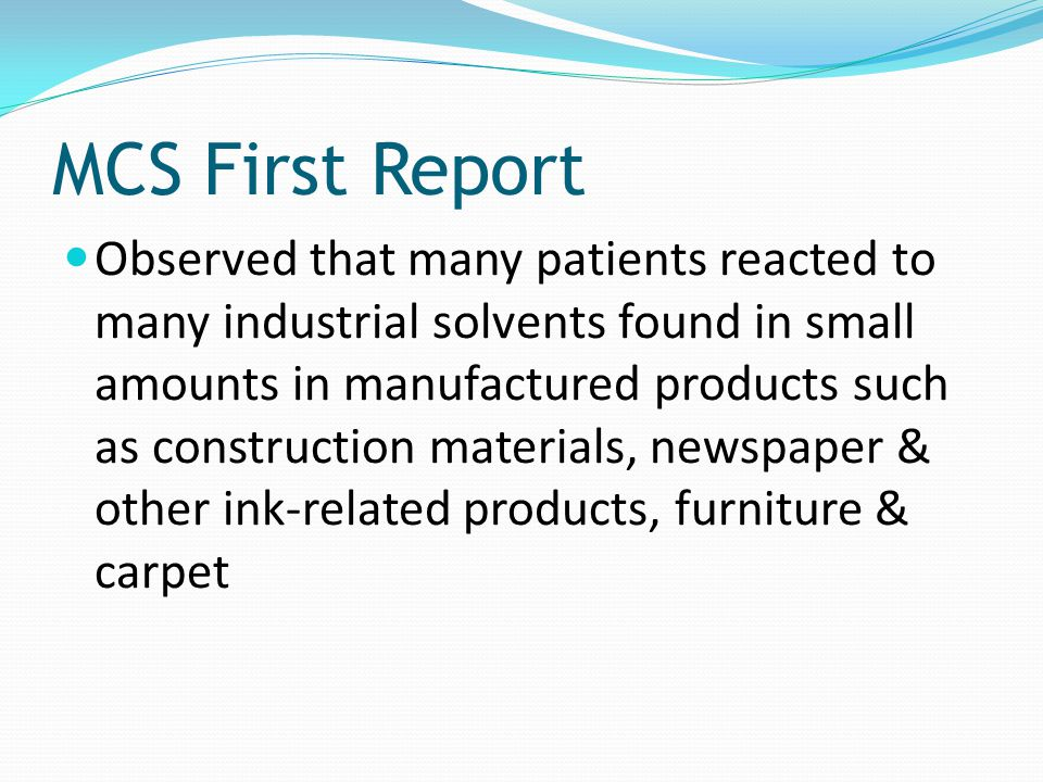 MCS First Report