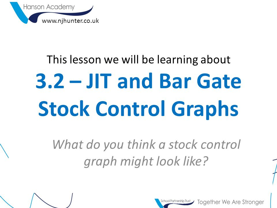 What do you think a stock control graph might look like