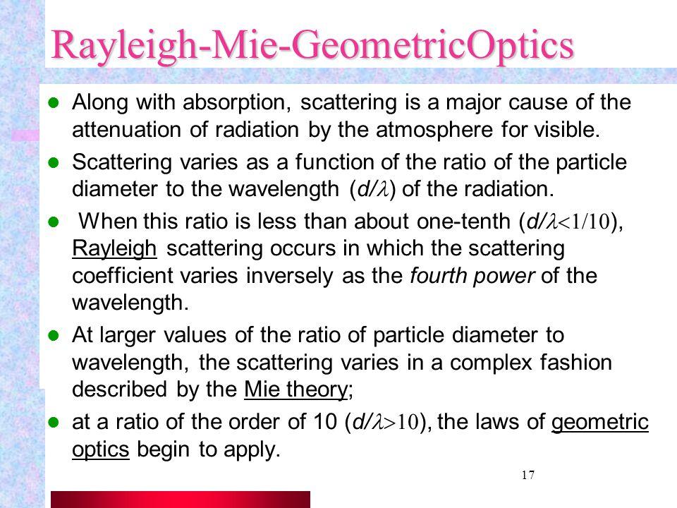 Rayleigh-Mie-GeometricOptics