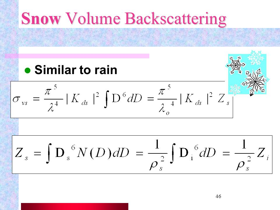 Snow Volume Backscattering