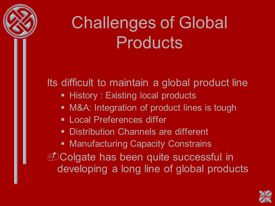 Challenges of Global Products