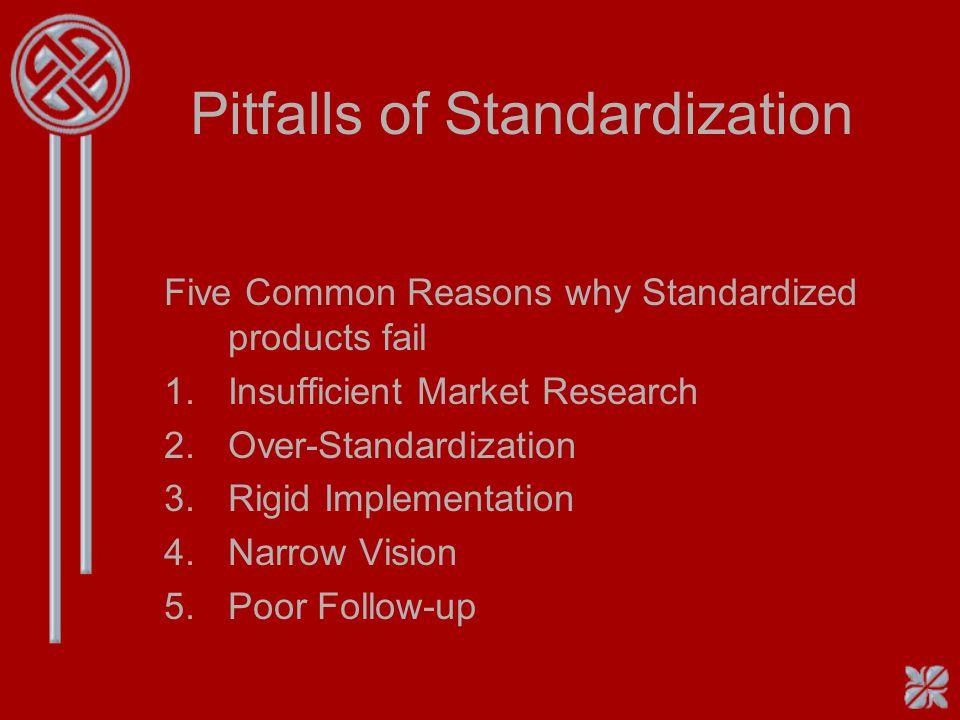 Pitfalls of Standardization