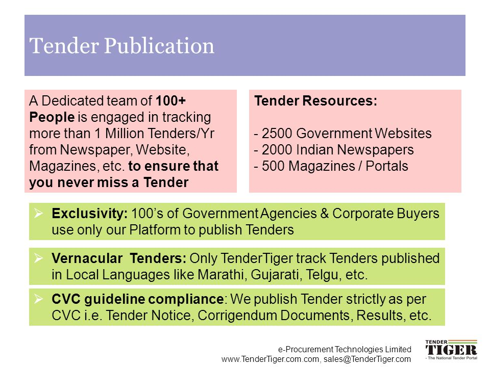 Tender Publication