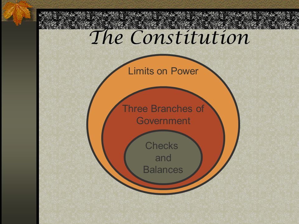 The Constitution Assessments: Limits on Power Three Branches of