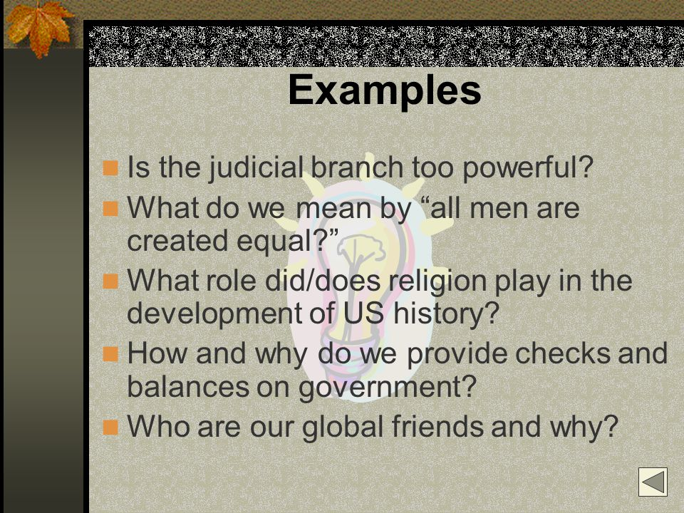 Examples Is the judicial branch too powerful