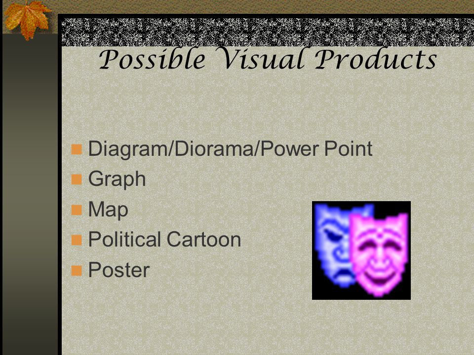 Possible Visual Products