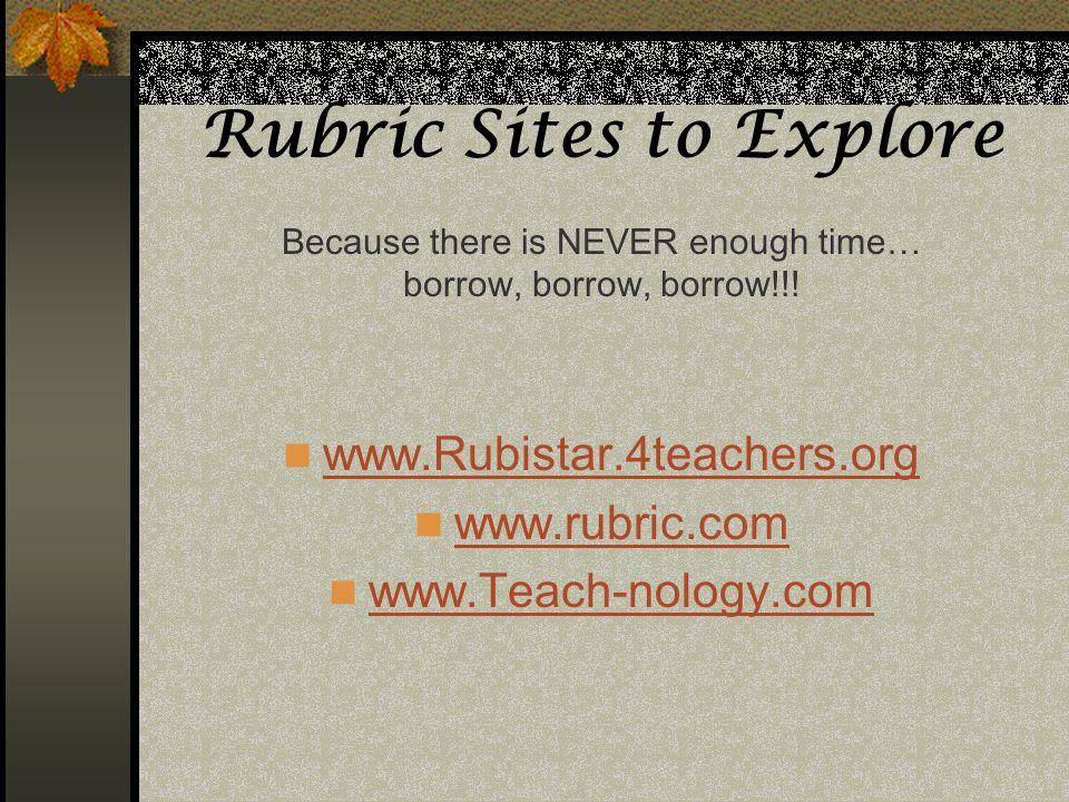 Rubric Sites to Explore