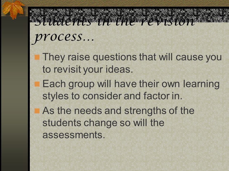 Students in the revision process…
