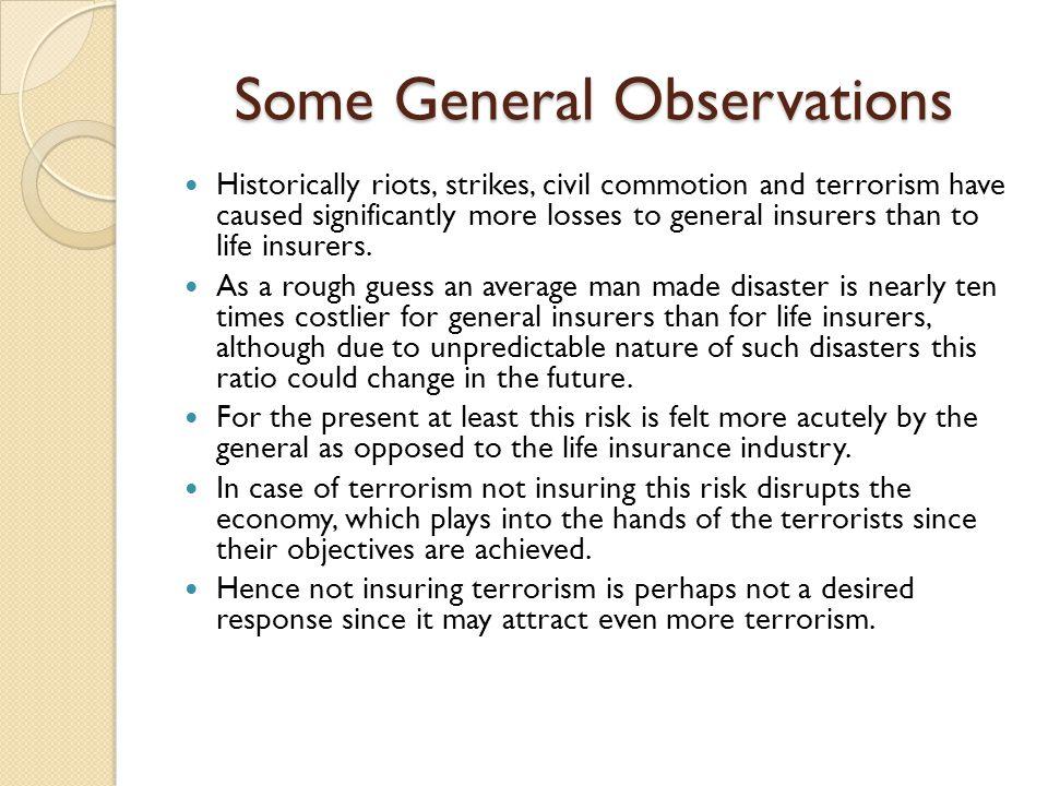 Some General Observations