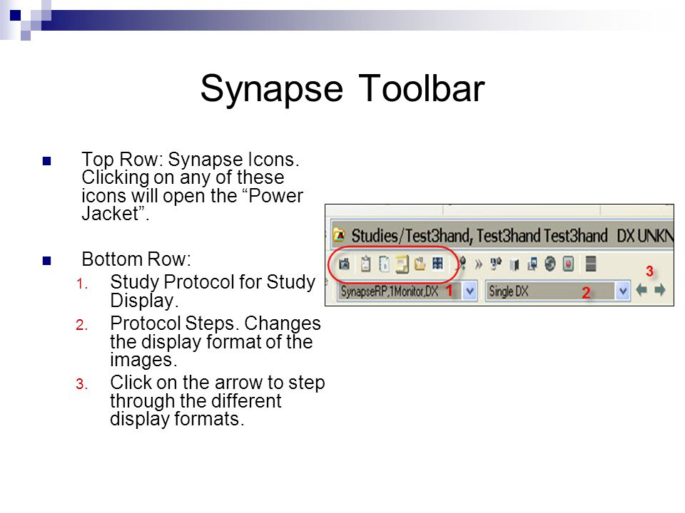 Synapse Toolbar Top Row: Synapse Icons. Clicking on any of these icons will open the Power Jacket .