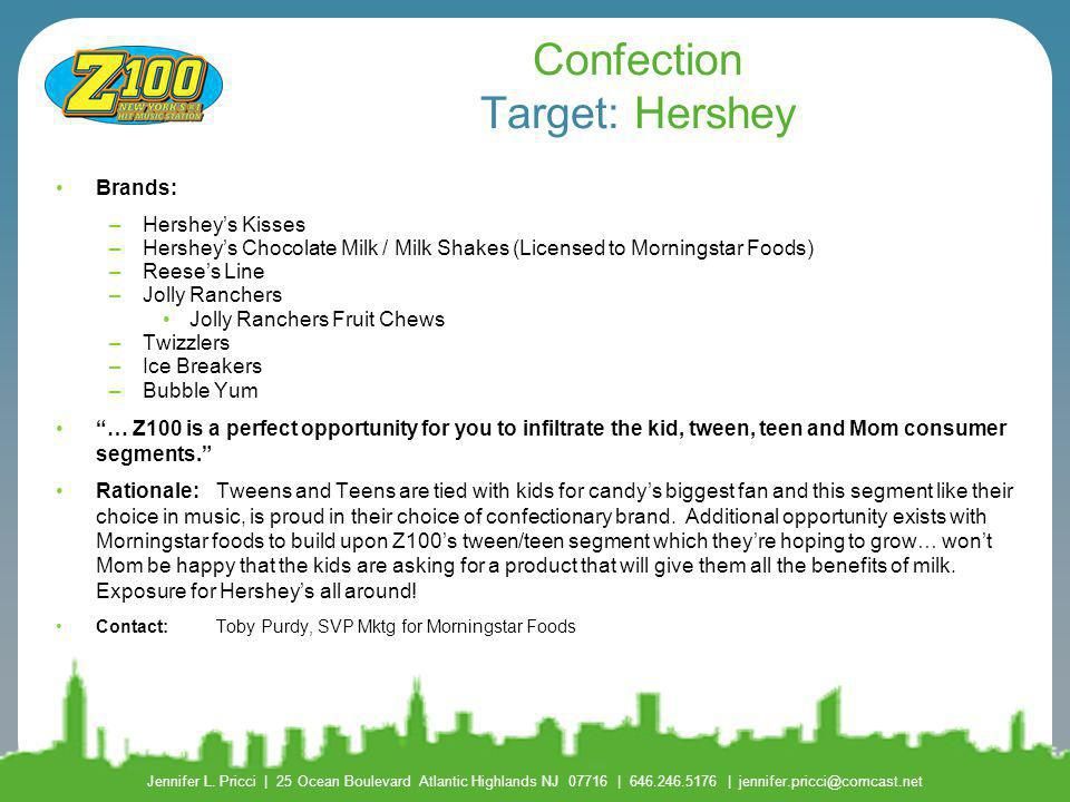 Confection Target: Hershey