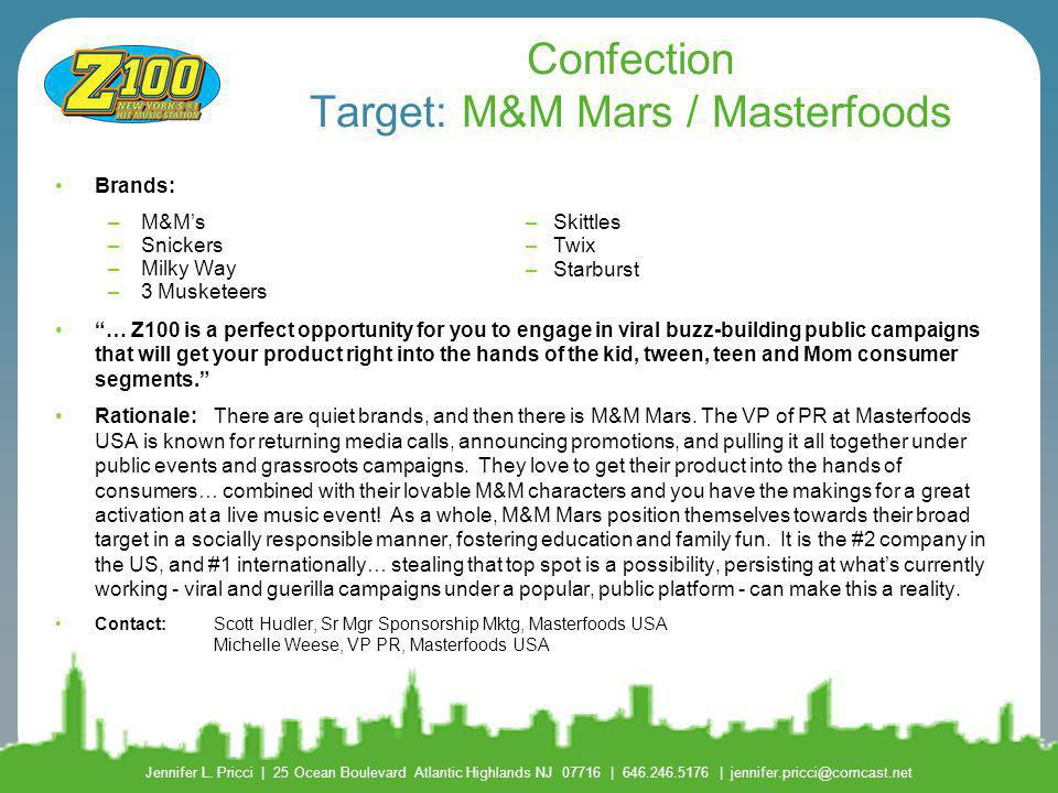 Confection Target: M&M Mars / Masterfoods