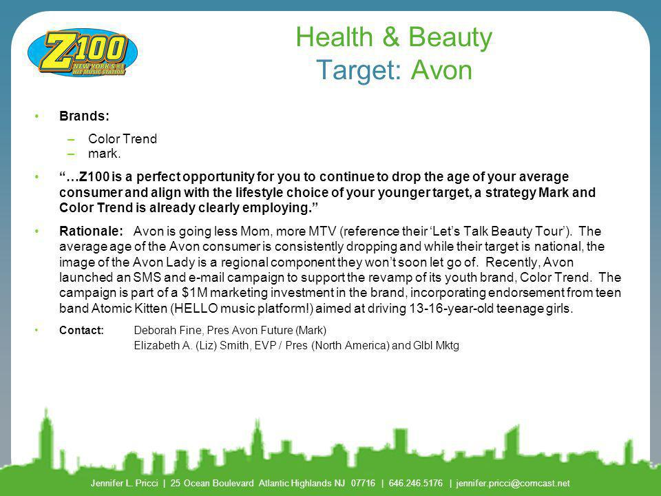 Health & Beauty Target: Avon