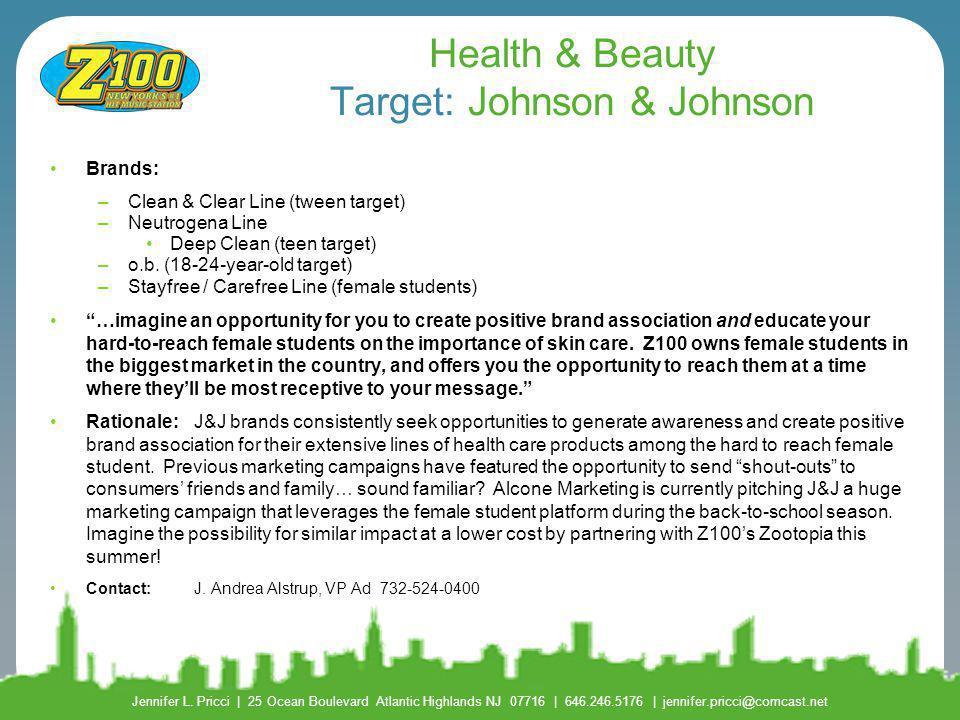 Health & Beauty Target: Johnson & Johnson