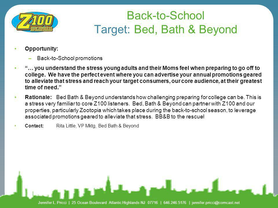 Back-to-School Target: Bed, Bath & Beyond