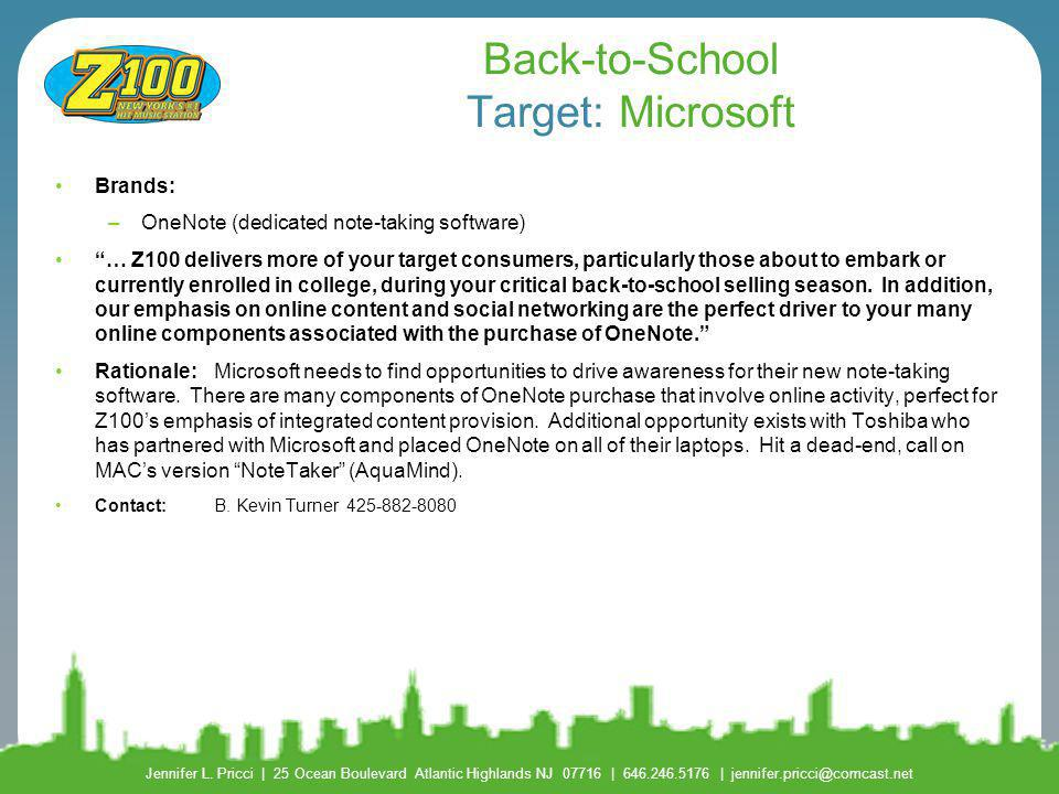 Back-to-School Target: Microsoft