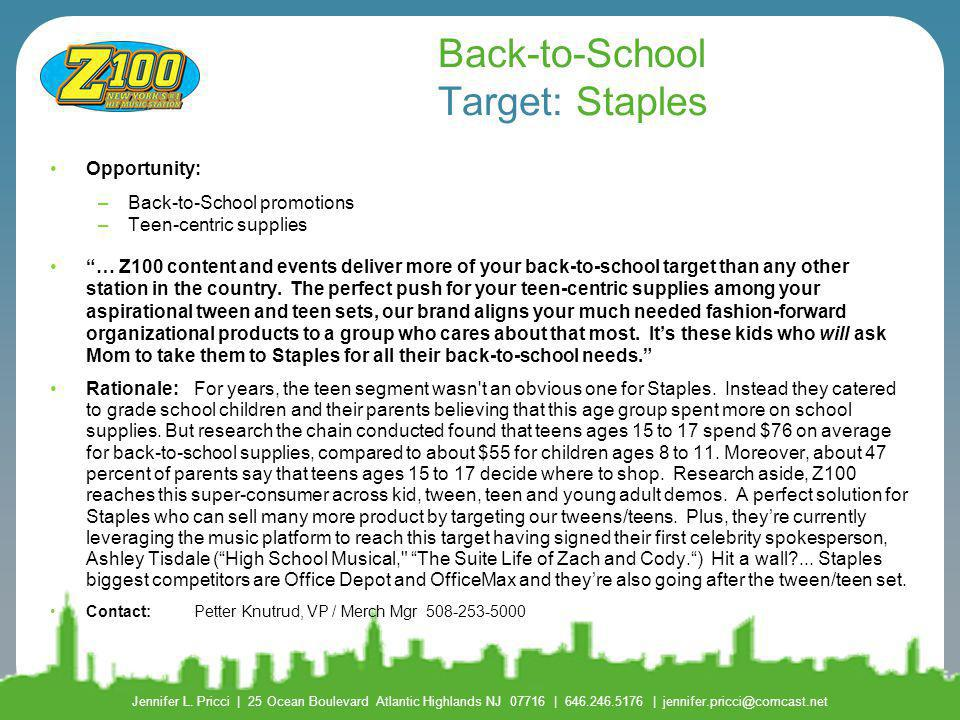 Back-to-School Target: Staples
