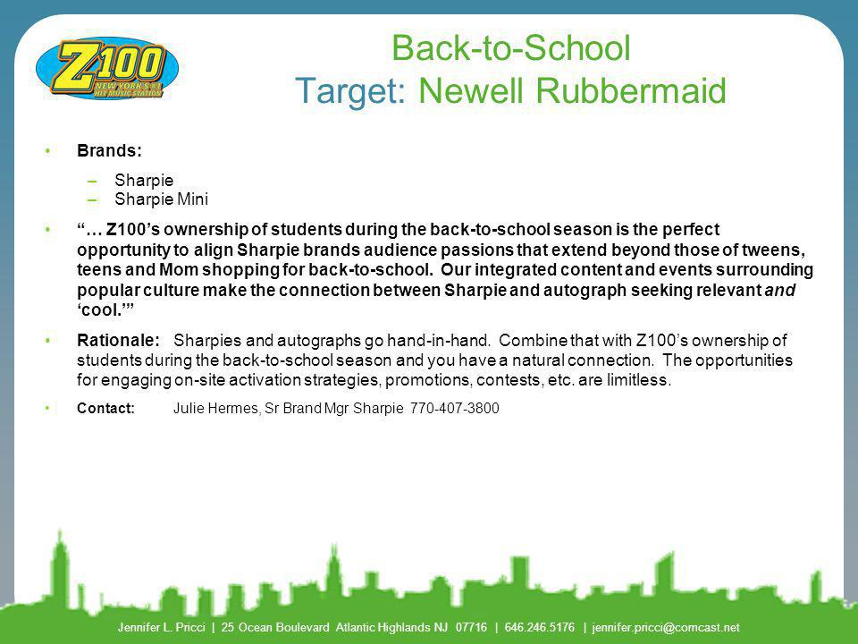 Back-to-School Target: Newell Rubbermaid