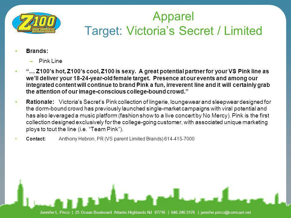 Apparel Target: Victoria's Secret / Limited