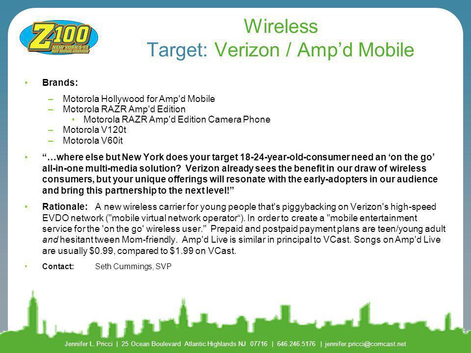 Wireless Target: Verizon / Amp'd Mobile