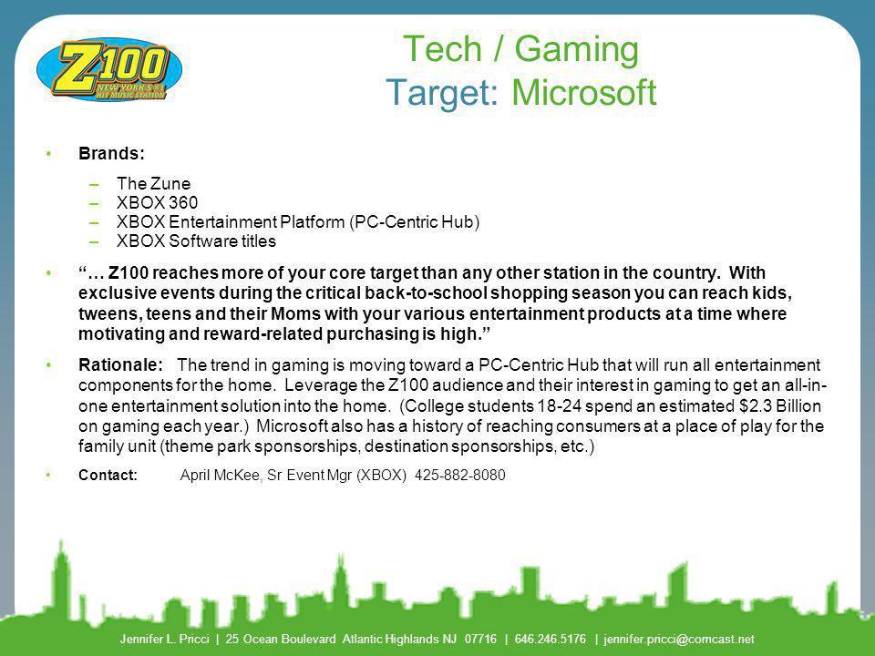 Tech / Gaming Target: Microsoft