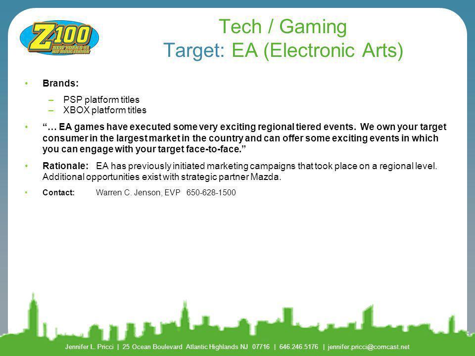 Tech / Gaming Target: EA (Electronic Arts)