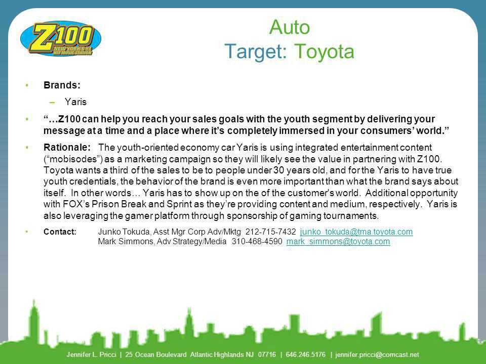 Auto Target: Toyota Brands: Yaris