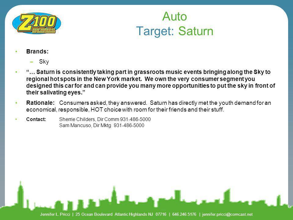 Auto Target: Saturn Brands: Sky