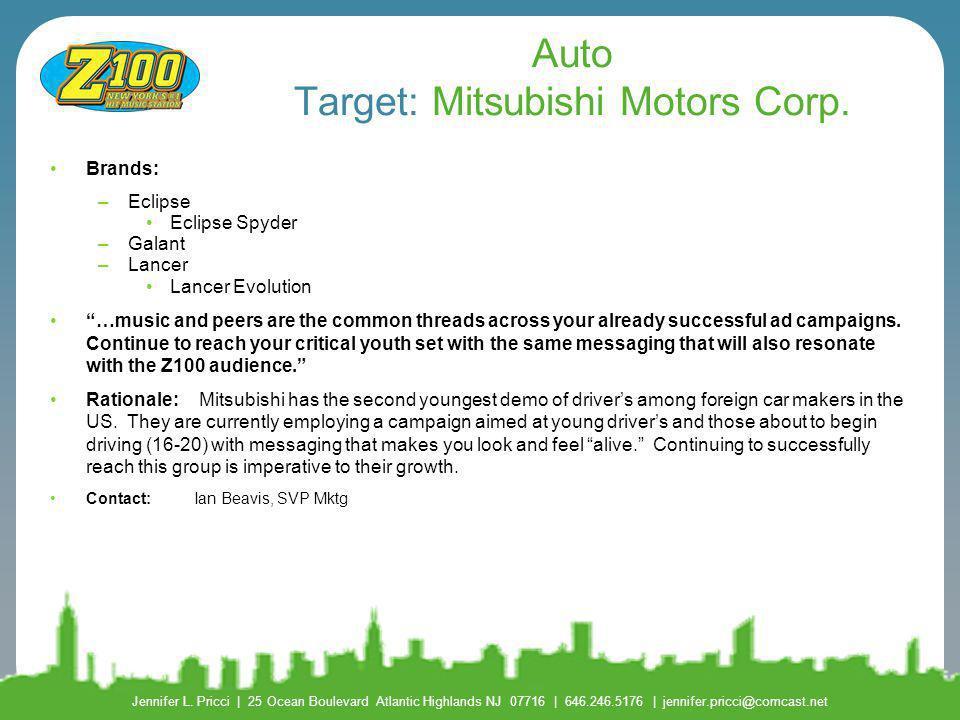 Auto Target: Mitsubishi Motors Corp.