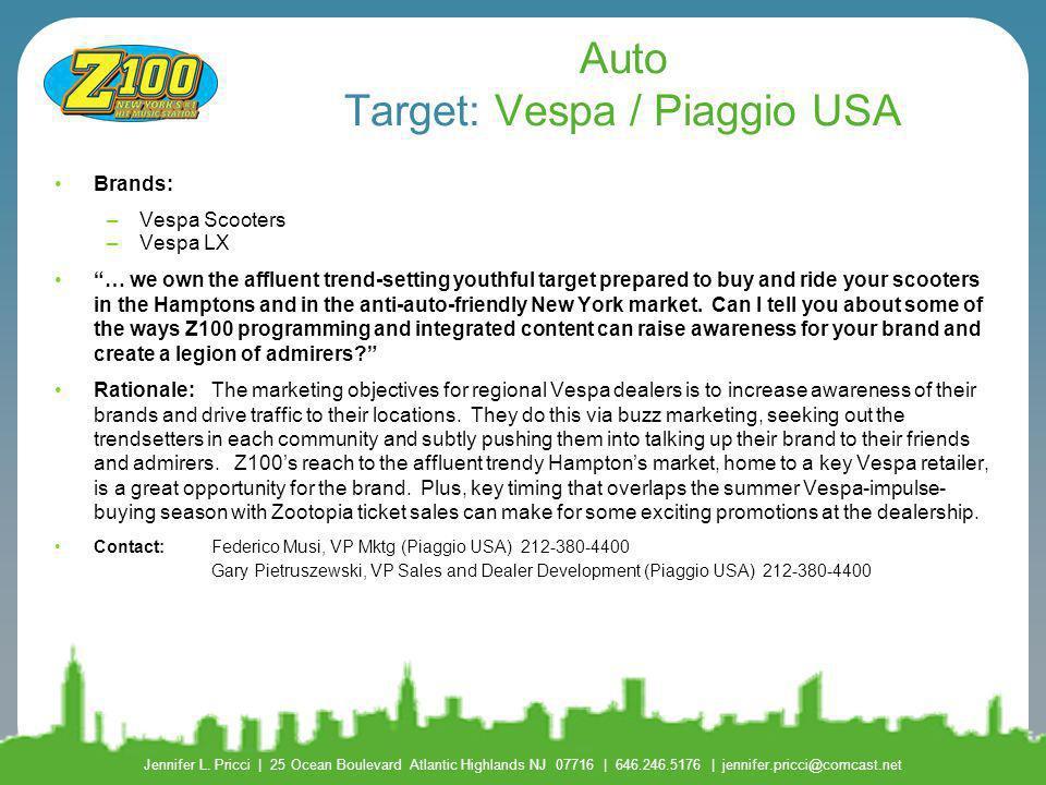 Auto Target: Vespa / Piaggio USA