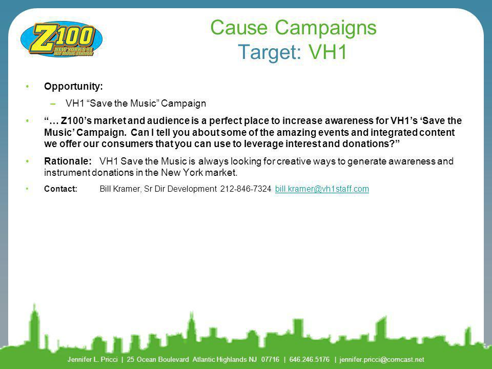 Cause Campaigns Target: VH1