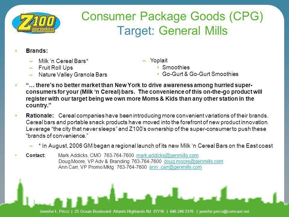 Consumer Package Goods (CPG) Target: General Mills