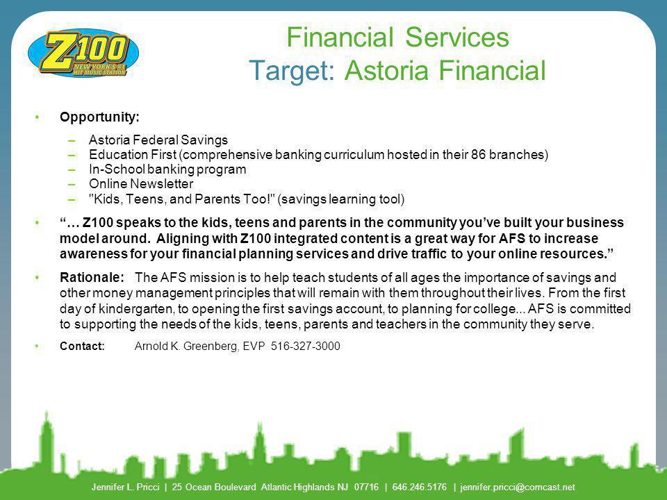 Financial Services Target: Astoria Financial