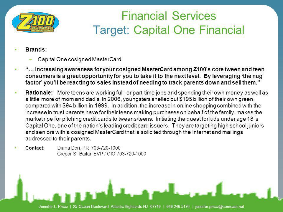 Financial Services Target: Capital One Financial