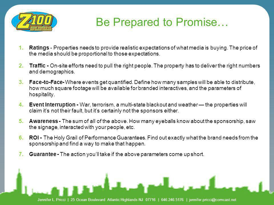 Be Prepared to Promise…