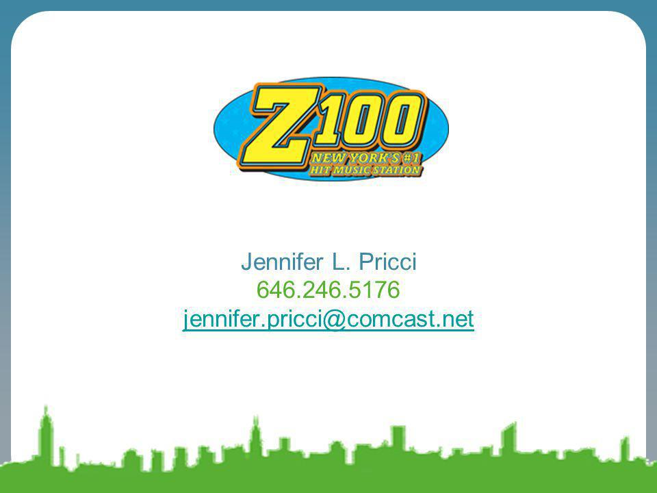Jennifer L. Pricci 646.246.5176 jennifer.pricci@comcast.net