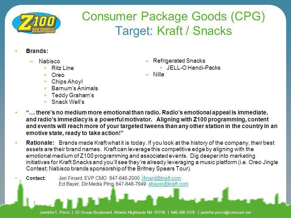 Consumer Package Goods (CPG) Target: Kraft / Snacks