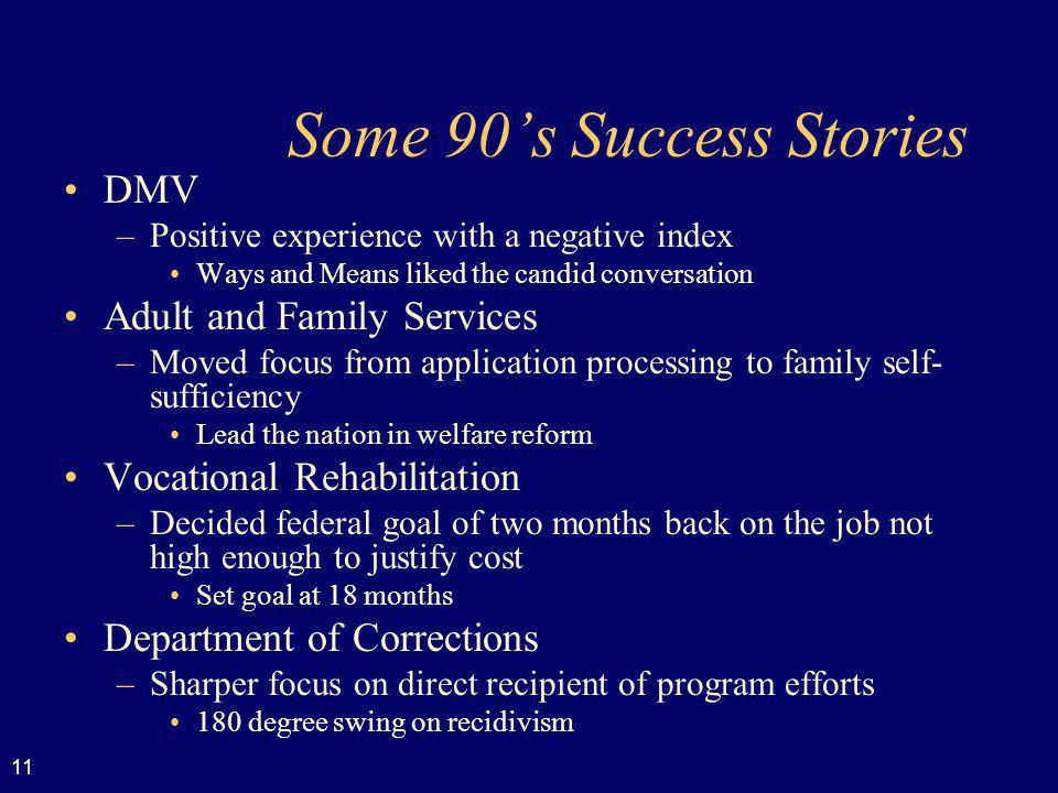 Some 90's Success Stories
