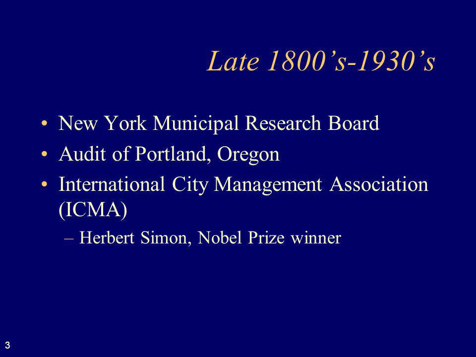 Late 1800's-1930's New York Municipal Research Board