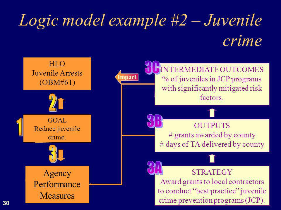 Logic model example #2 – Juvenile crime
