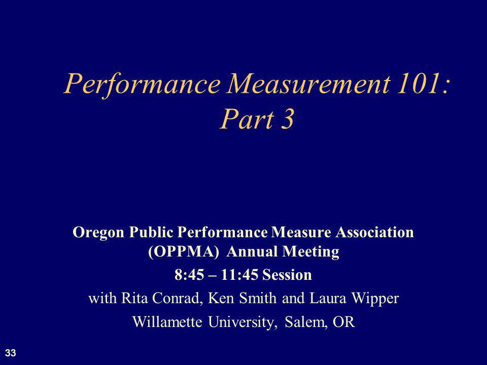 Performance Measurement 101: Part 3