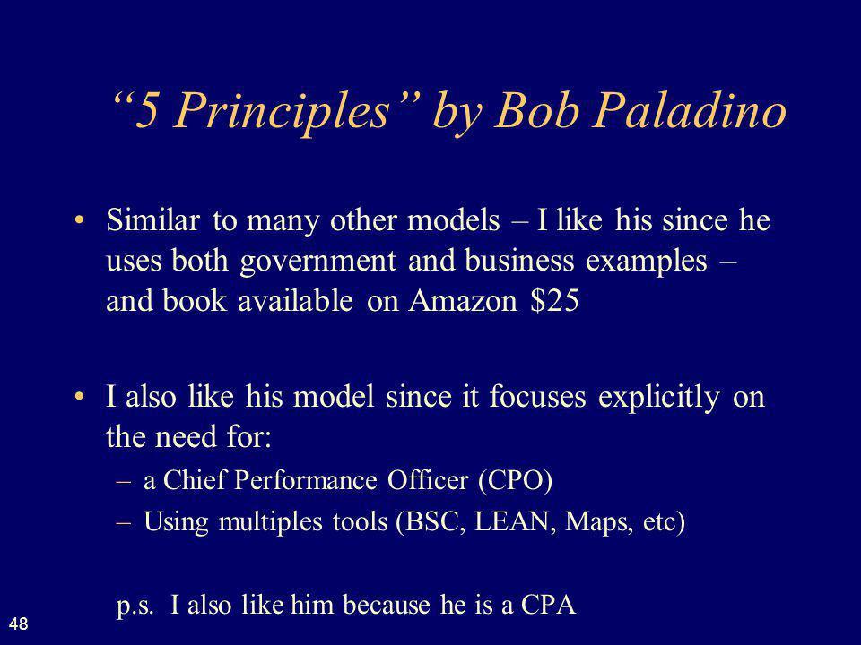 5 Principles by Bob Paladino