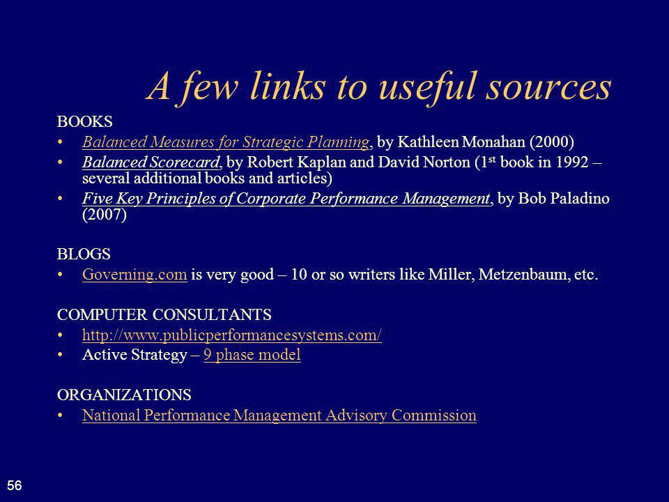 A few links to useful sources