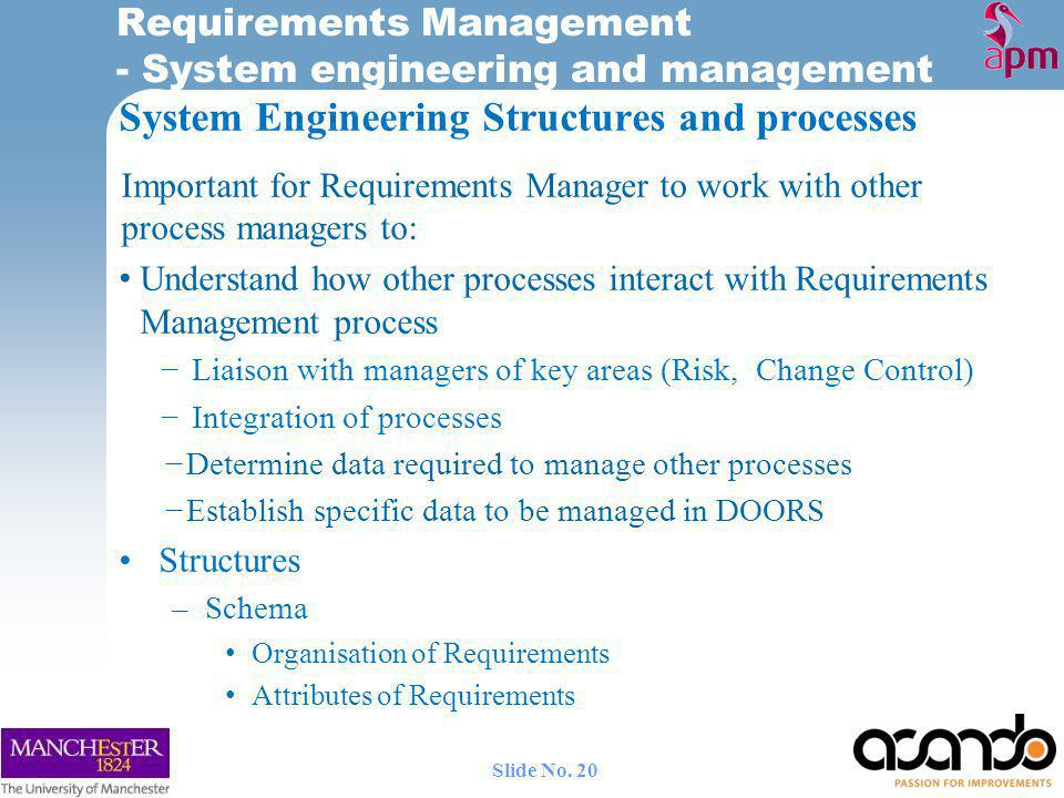 System Engineering Structures and processes